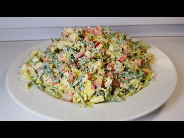 🎄Потрясающе вкусный салат на новый год 2019!Все кто пробуют остаются довольны.НОВОГОДНИЕ САЛАТЫ 2019