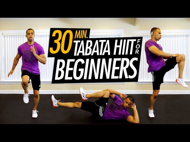 30 Min Tabata Workout for Complete Beginners - 50 Best Beginner Cardio HIIT Exercises