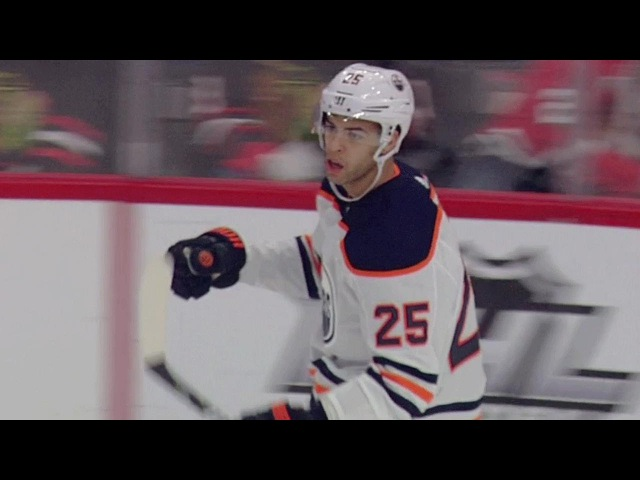 Oilers' Nurse finishes off slick give and go with Cammalleri