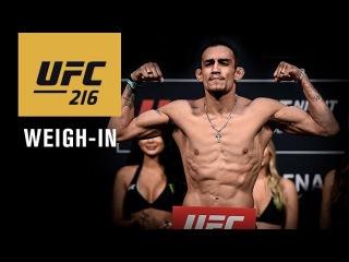 Прямая трансляция церемонии взвешивания участников турнира UFC 216: Фергюсон - Ли