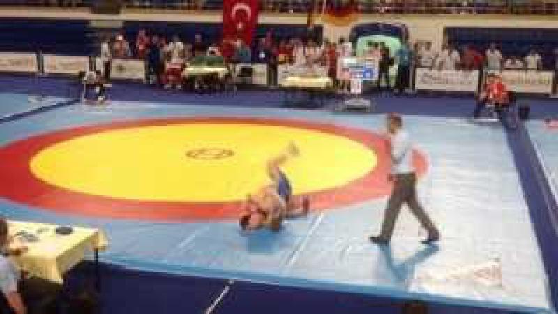 Первенство Европы 2013 кадеты Финал 85 кг Фанзиев Сослан Дубровин Влас 22 06 2013
