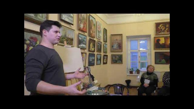 Мастер класс по живописи маслом Как написать зимний пейзаж