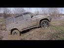 Offroad УАЗ Патриот и Nissan Terrano Жидкая грязь и перетягивание каната