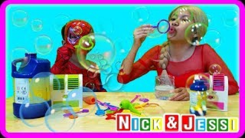 Fun Activity for Kids Bubble Soap | Indoor Family Playtime | Jessi and Nick Show