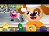 FUNNY FOOD. Educational Games for Kids Toddlers. NokiToki