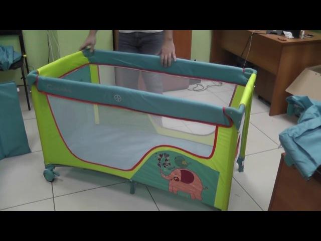 Обзор и сборка Кровать-манеж Capella S-10