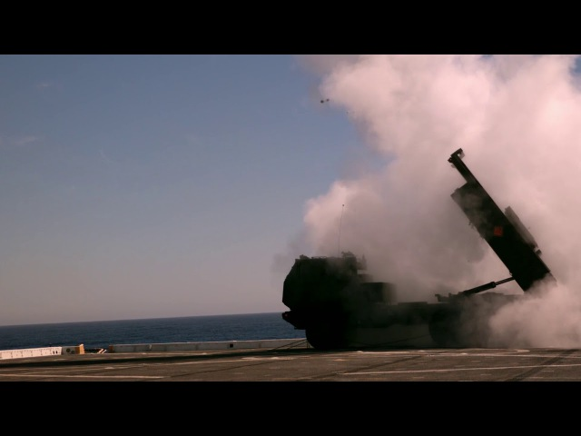 HIMARS is launched aboard USS Anchorage (LPD 23)