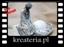 Powertex postać siedząca na kamieniu KreaCraftShow039