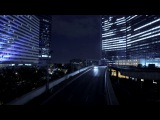 traffic lights modern buildings urban background time lapse of city at night bppohxou D