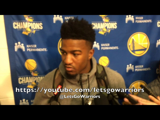 Entire JORDAN BELL postgame injury sharp pain thought he broke it never sprained before