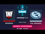 Infamous vs Evil Geniuses, ESL One Katowice, game 1 [Lum1Sit, Autodestruction]