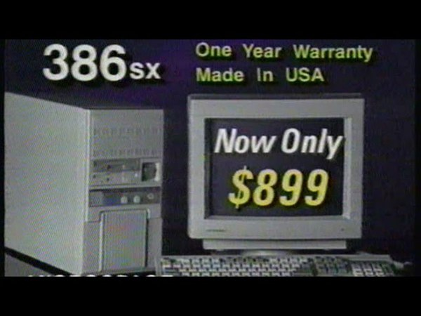 Old Computer Commercial, Feb 22 1992