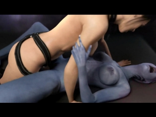 3d porn - liara 2 mass effect 3 (futanari/ futa, sex)