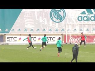 Marcelo y vallejo se entrenan con el grupo 01/03/18
