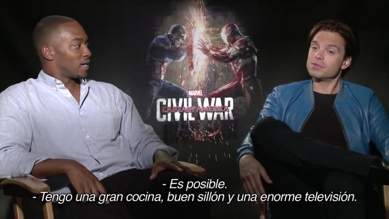 Интервью для EstoEs COMBO в рамках промоушена фильма «Первый мститель: Противостояние» | 2016