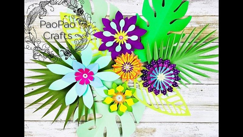 ARREGLO FLORAL TROPICAL   FLORES DE PAPEL   MOLDES GRATIS   TROPICAL FLOWER ARRANGEMENT