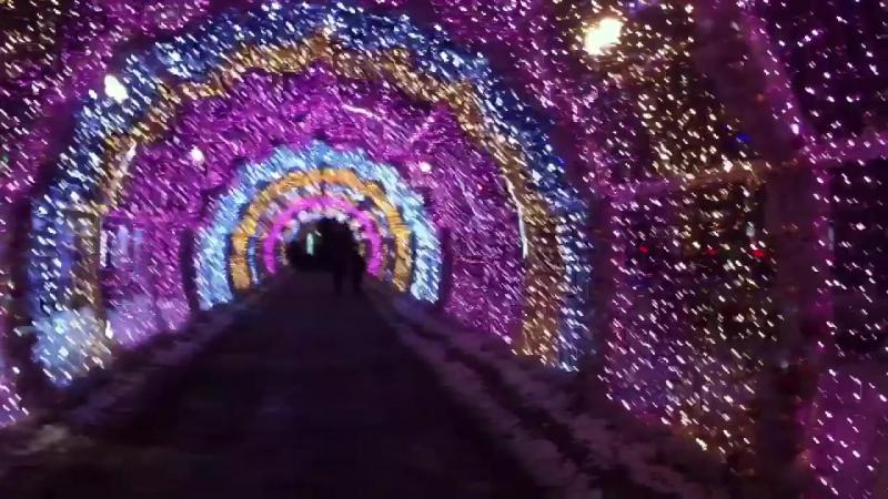 Новогодняя арка на Тверском бульваре 2.