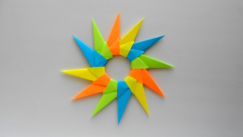 How to fold Origami Star. DIY Paper star tutorial