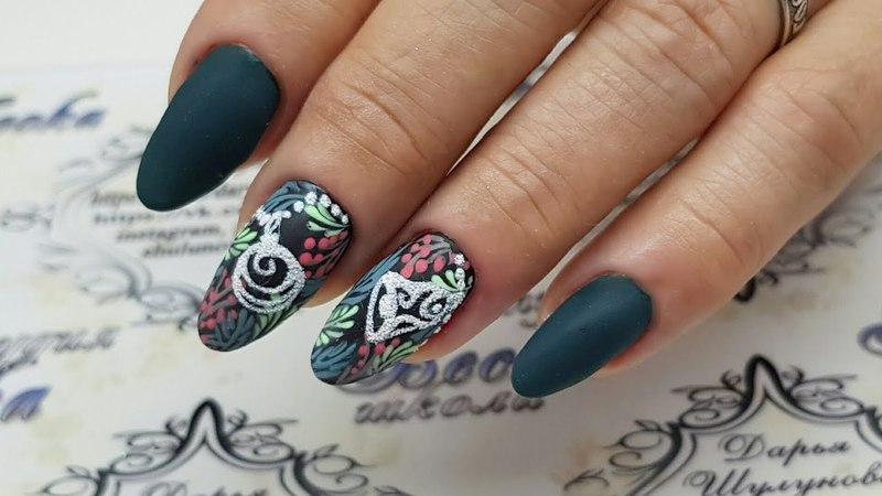 Зимний дизайн ногтей Дизайн ногтей к новому году Новогодний дизайн ногтей