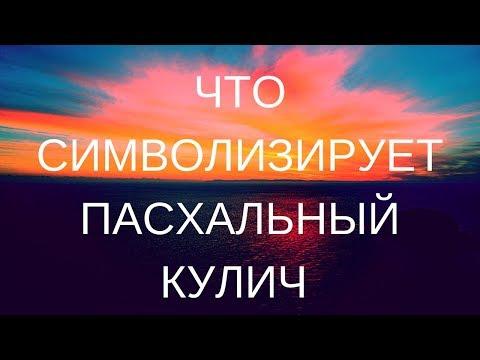 ПАСХА. Что символизирует пасхальный кулич