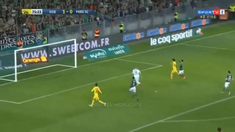 Incroyable raté Cavani St Etienne vs PSG