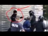 Батюшка бьёт ОМОН защищающий гей-парад в Кишинёве