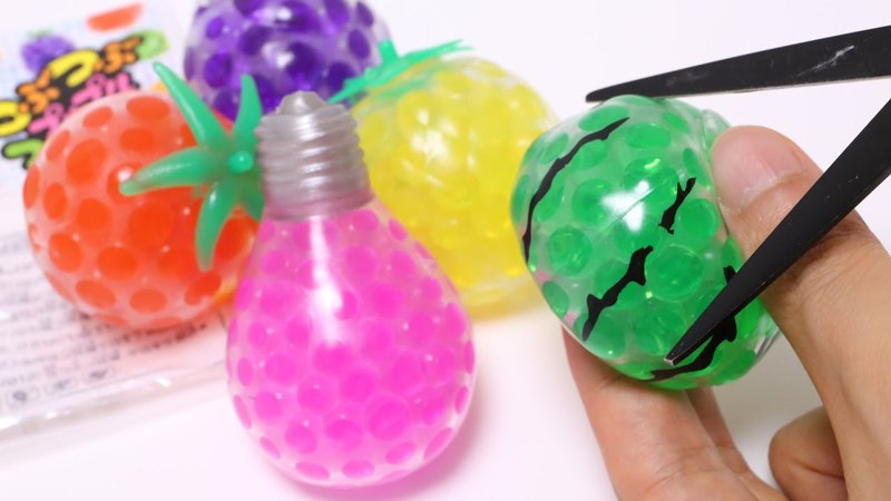 1 Dollar Store Orbeez Squeeze Toys Cutting Open