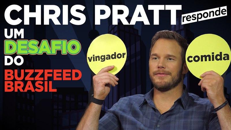 Desafio com Chris Pratt: Vingadores ou Comida?