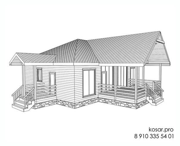 Одноэтажный дом 5014