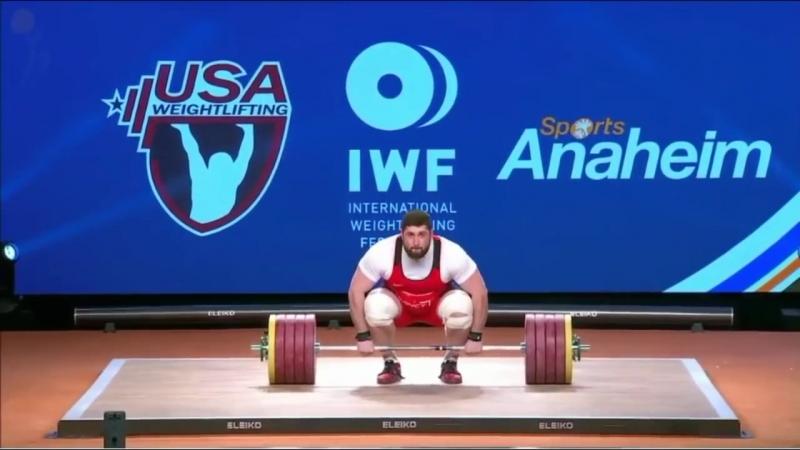 Лаша Талахадзе Мировой рекорд 220 257 477 kg