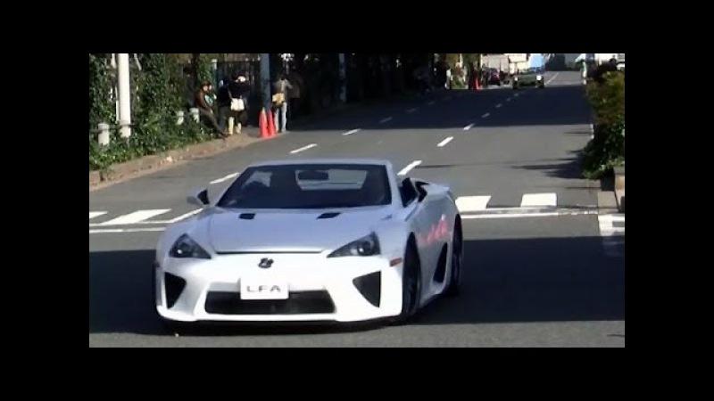 大臣のLFA Spiderが凄いスピードで行かれて... とトヨタ社長 お台場モータ125