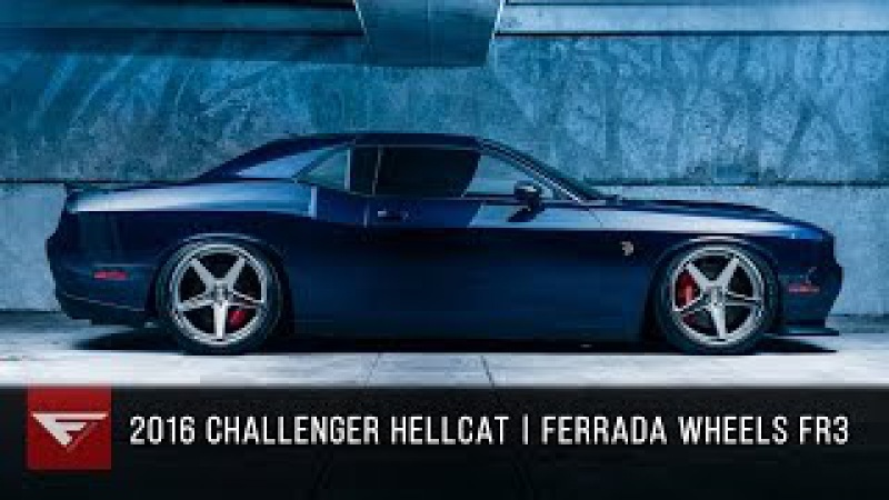 2016 Dodge Challenger Hellcat Ferrada FR3 Machine Silver with Polished Lip