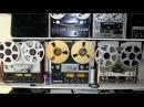 Vintage recorders on display