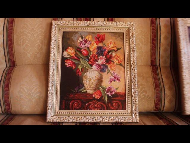 4 Вышивка крестом оформленные работы Dimension Попугайные тюльпаны и Прекрасная балерина