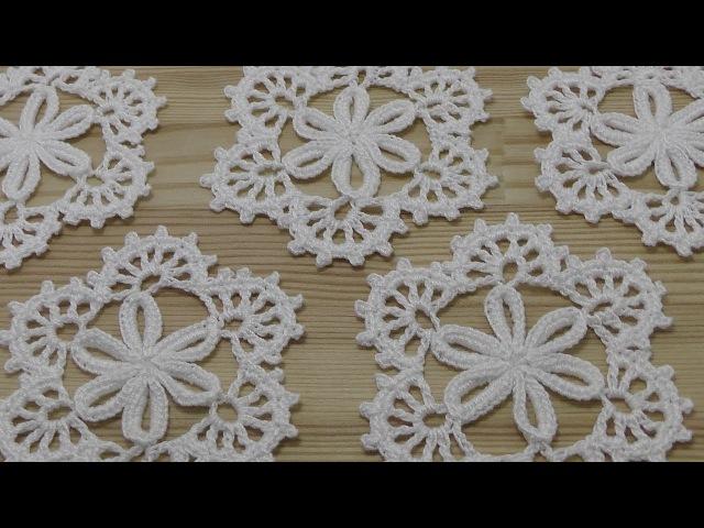 Ажурный мотив крючком - мастер класс по вязанию - crochet lesson