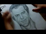 Мел Гибсон ( Drawing Mel Gibson What Women Want)