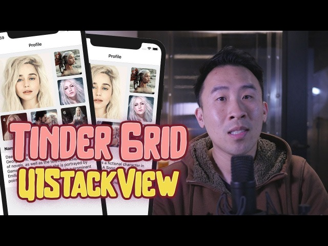 Tinder Profile Grid: Awesomeness of UIStackView in Interface Builder (Ep 1)