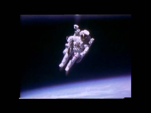Astronaut Bruce McCandless II Floats Free in Space