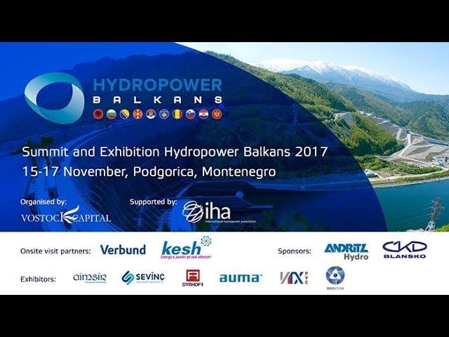 Summit and Exhibition Hydropower Balkans 2017
