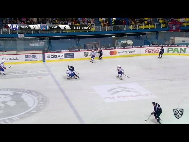 Моменты из матчей КХЛ сезона 16/17 • Гол. 4:2. Шон Моррисонн (Медвешчак) увеличил разрыв в счёте 02.10