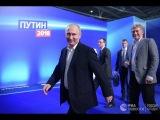 Путин выступил в своем предвыборном штабе