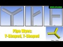 ANSYS Design Modeler - Pipes Y-Shaped/T-Shaped