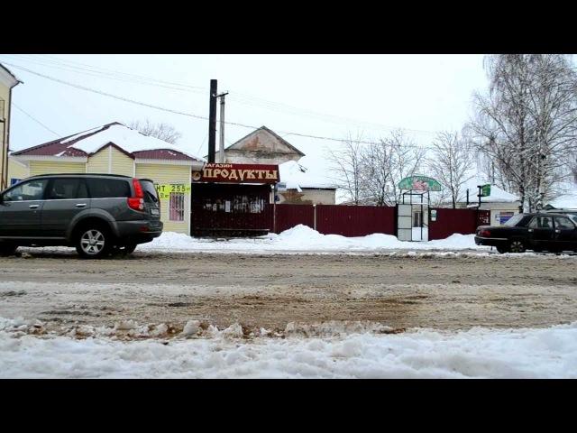 Автобусная остановка на Комсомольской улице (ВЯЗЬМА) [07.04.2012]