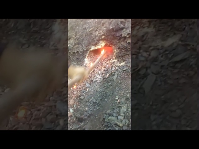 In my village, the coal rich soil is burning since a huge wildfire 3 months ago I filmed it myself