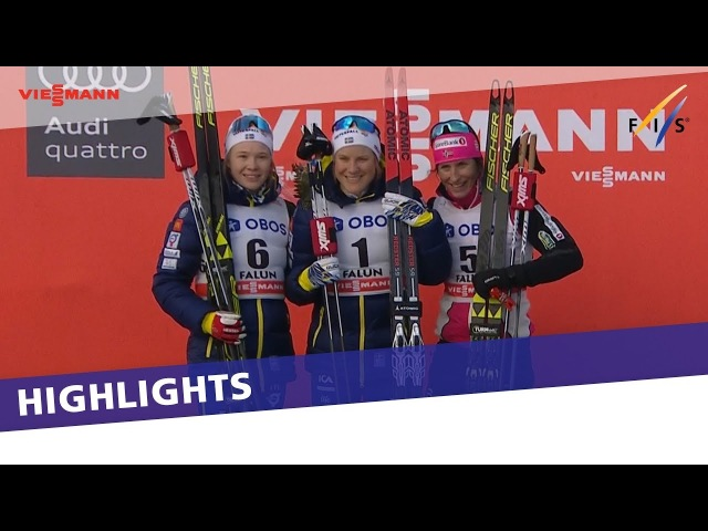 Hanna Falk delights home crowd in Falun Ladies' Sprint   Highlights