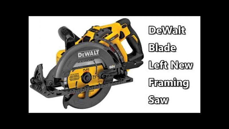 DeWalt 60V Max Flexvolt DCS577X1 Blade Left Framing Saw from Nashville Media Event 2017