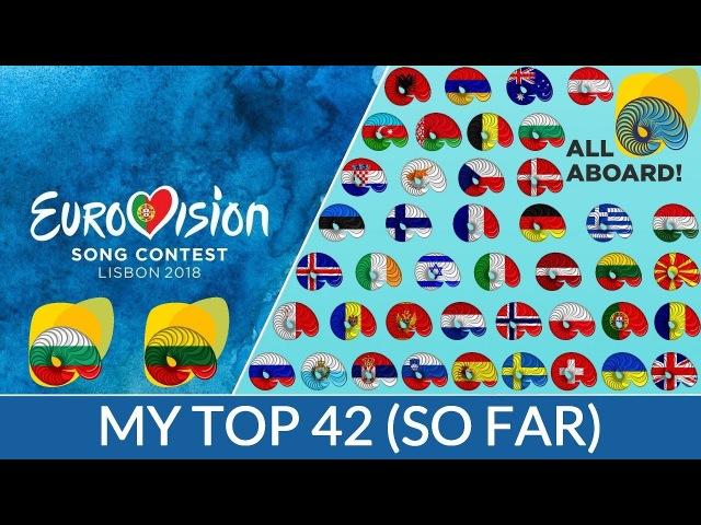 Eurovision 2018   My Top 42 (So Far)   (Bulgaria   Lithuania)