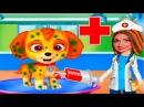 Мультфильм ЩЕНЯЧИЙ ПАТРУЛЬ у Доктора Делаем УКОЛ Скай видео для детей УШАСТИК KIDS