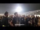 Slavlje igrača i navijača Partizana posle obezbeđenog evropskog proleća