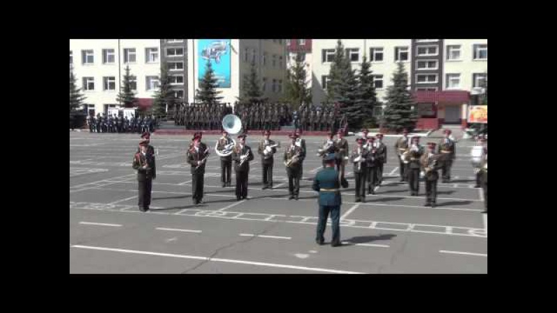 Дефиле военного оркестра 147 АБМО 09.05.2015
